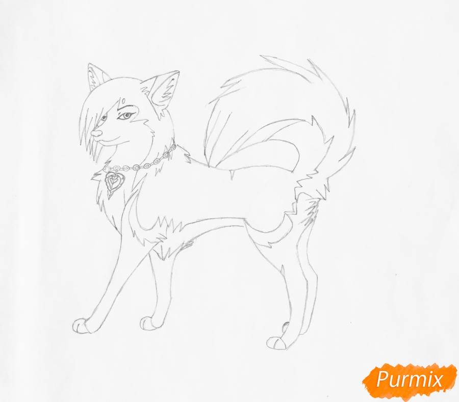 Рисуем розовую аниме лайку - шаг 5