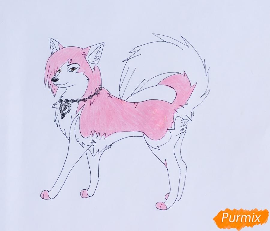 Рисуем розовую аниме лайку - шаг 7