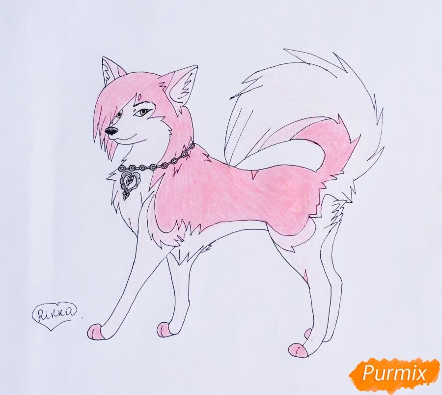 Рисуем розовую аниме лайку - шаг 8