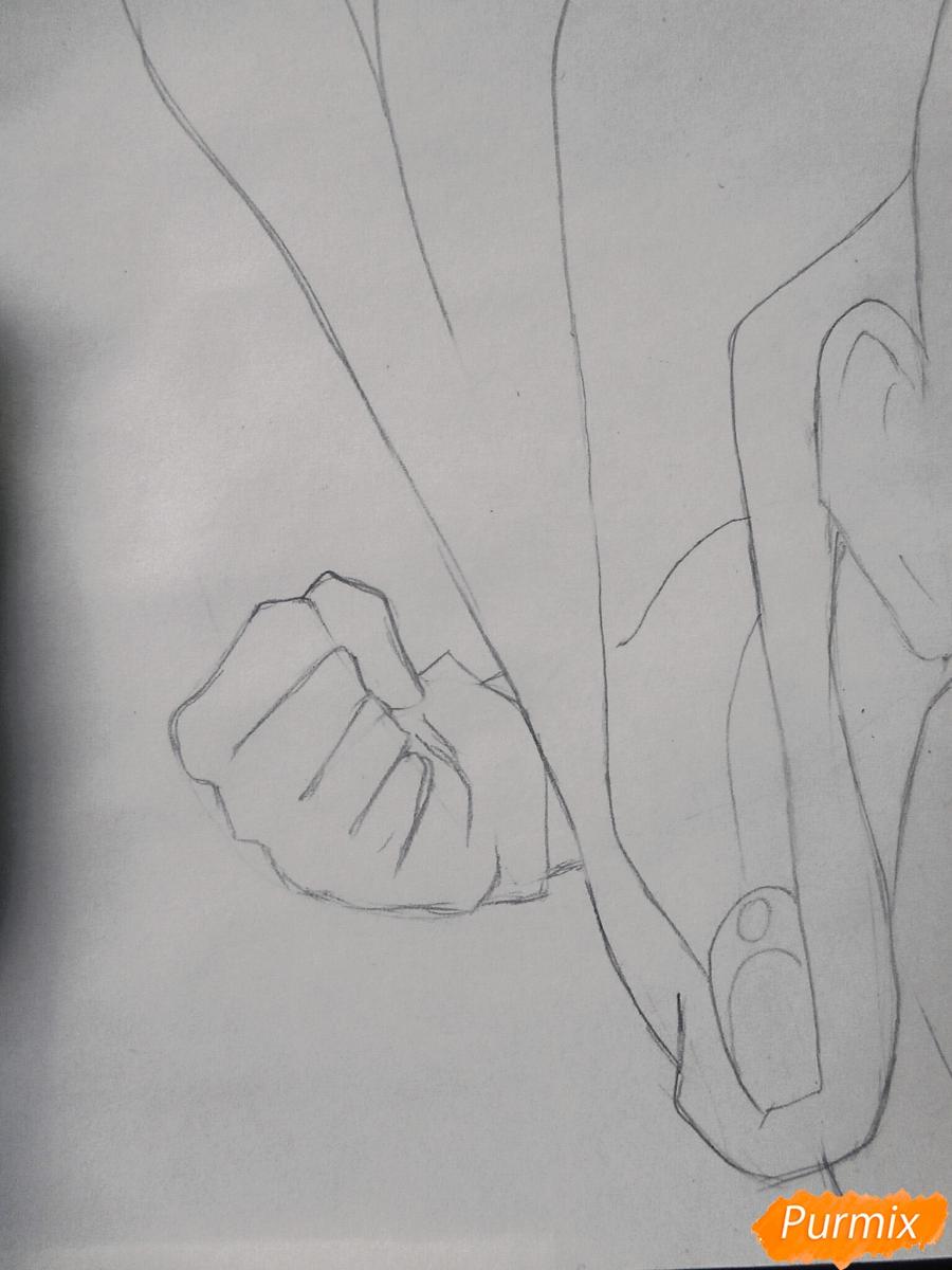 Рисуем Сайтаму главного героя манги/аниме Ванпачмен - шаг 5