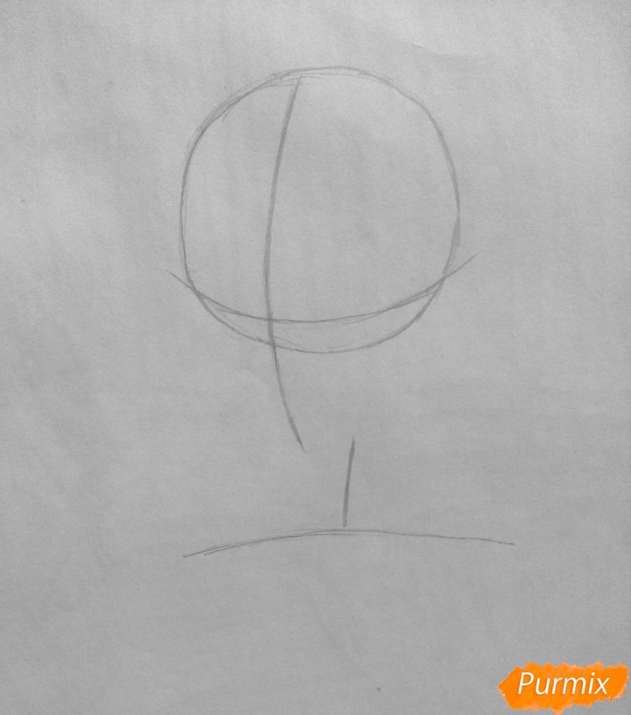 Рисуем Сато Кёя из аниме Волчица и чёрный принц карандашами - фото 1