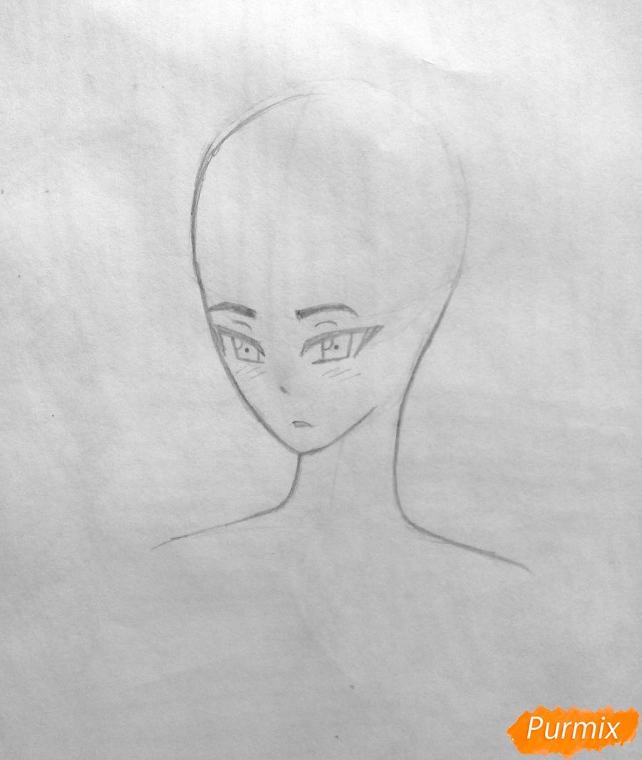 Рисуем Сато Кёя из аниме Волчица и чёрный принц карандашами - фото 4