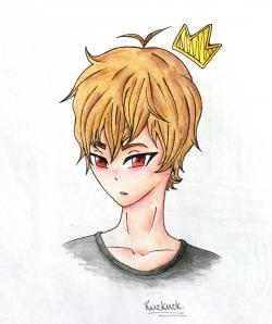Рисунок Сато Кёя из аниме Волчица и чёрный принц