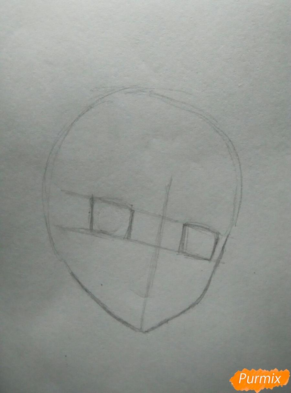 Рисуем Савако Куронума из аниме Дотянутья до тебя - шаг 1