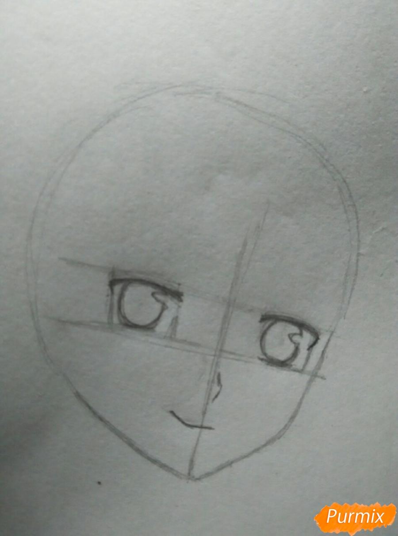 Рисуем Савако Куронума из аниме Дотянутья до тебя - шаг 2