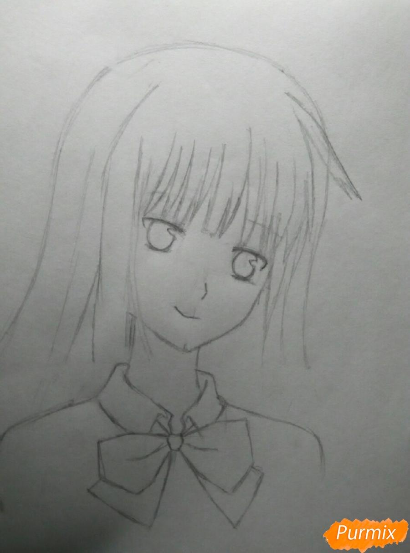Рисуем Савако Куронума из аниме Дотянутья до тебя - шаг 4