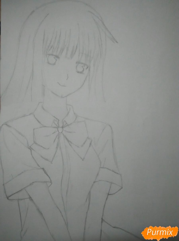 Рисуем Савако Куронума из аниме Дотянутья до тебя - шаг 5