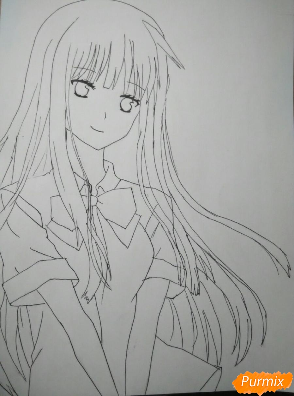Рисуем Савако Куронума из аниме Дотянутья до тебя - шаг 7