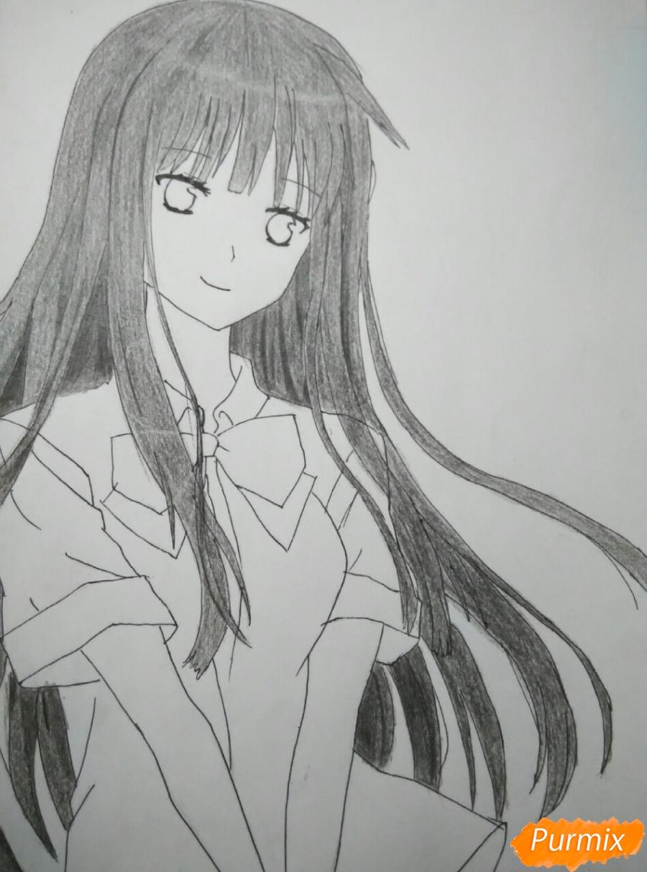 Рисуем Савако Куронума из аниме Дотянутья до тебя - шаг 8