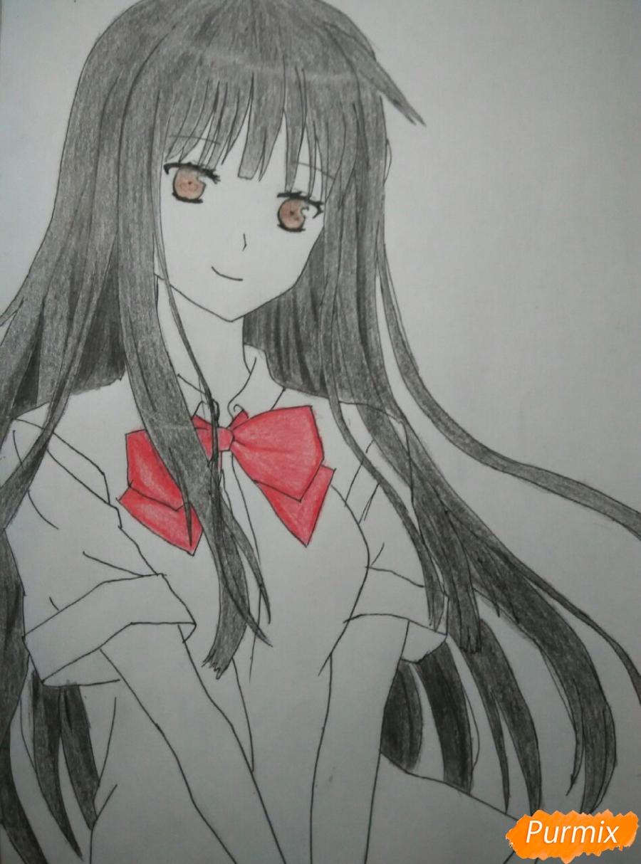 Рисуем Савако Куронума из аниме Дотянутья до тебя - шаг 9