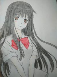Рисунок Савако Куронума из аниме Дотянутья до тебя