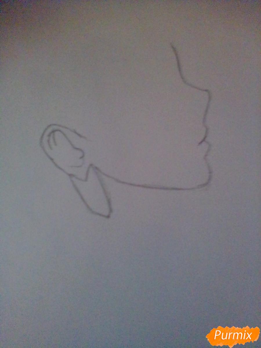 Рисуем Сейлор Плутон (Сэцуна Мэйо) из аниме Сейлор Мун - шаг 1