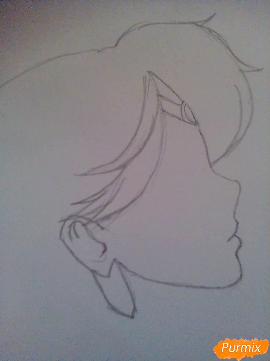 Рисуем Сейлор Плутон (Сэцуна Мэйо) из аниме Сейлор Мун - шаг 2