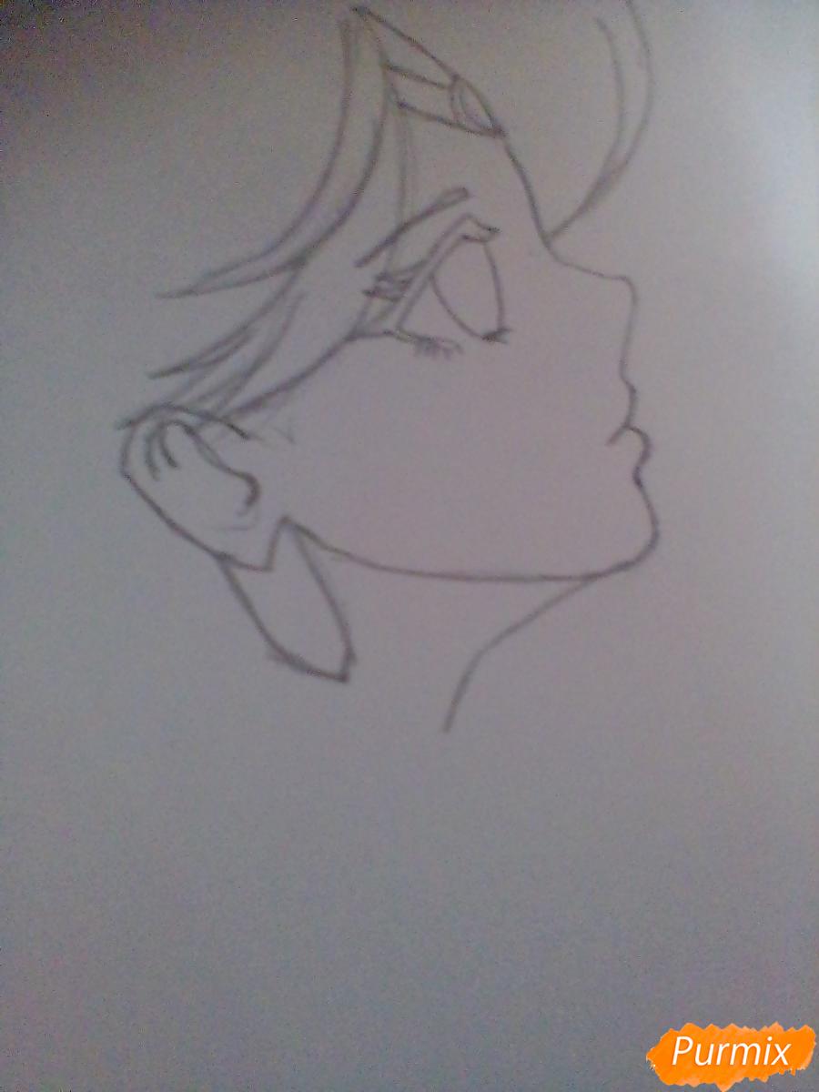 Рисуем Сейлор Плутон (Сэцуна Мэйо) из аниме Сейлор Мун - шаг 3