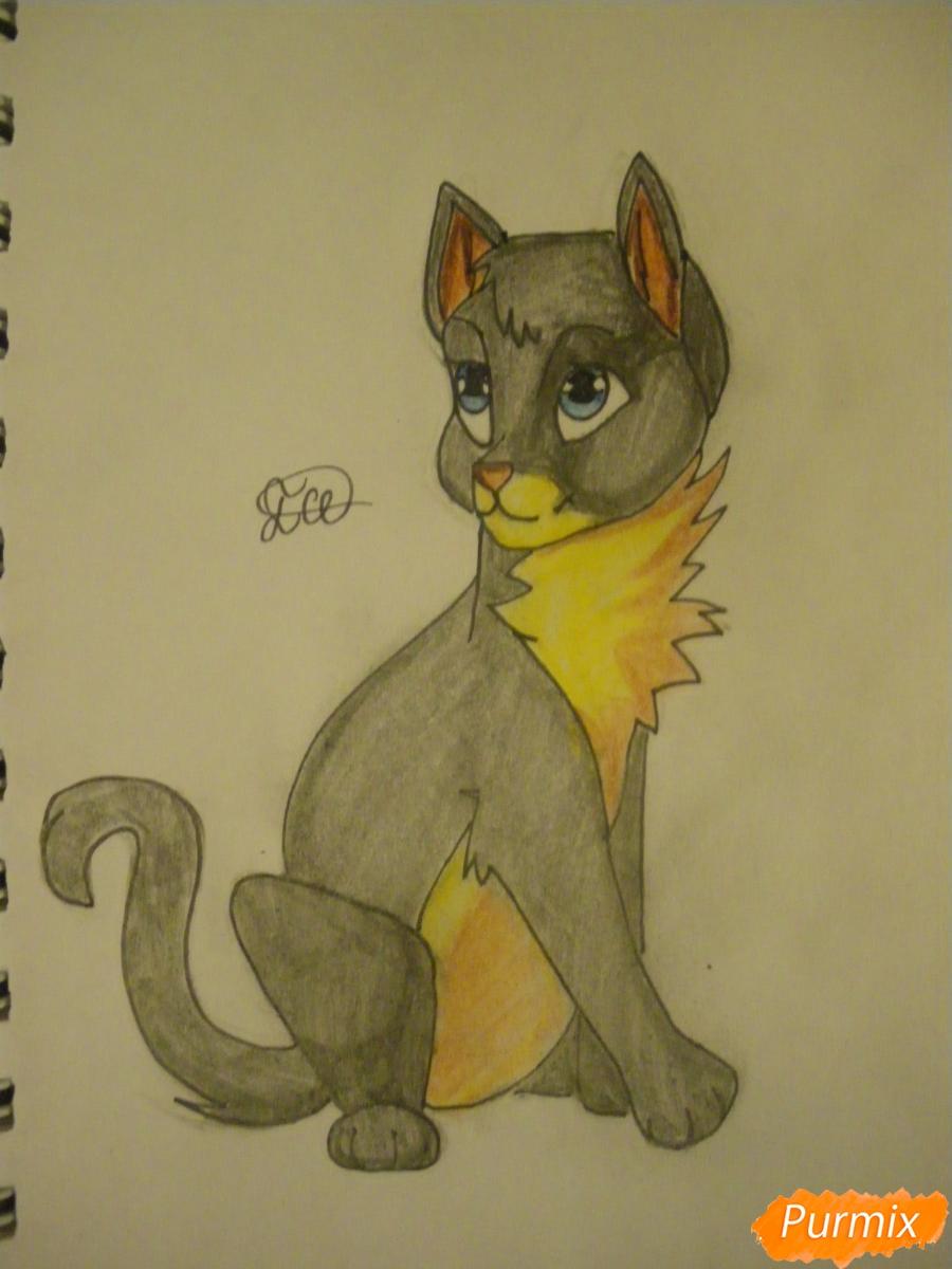 Рисуем серую аниме кошку - шаг 10