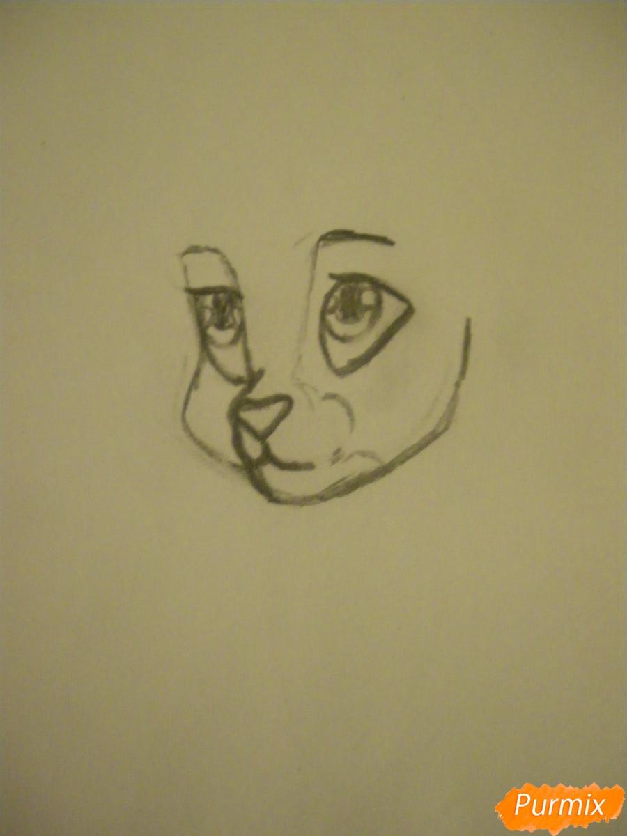 Рисуем серую аниме кошку - шаг 3