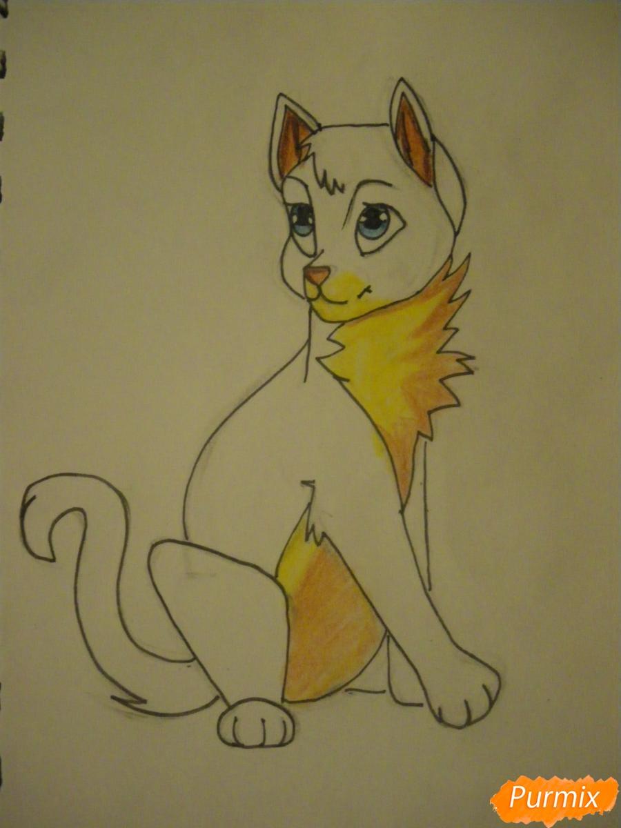 Рисуем серую аниме кошку - шаг 9