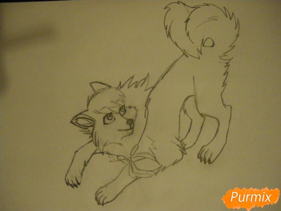 Рисуем серую аниме волчицу - шаг 6