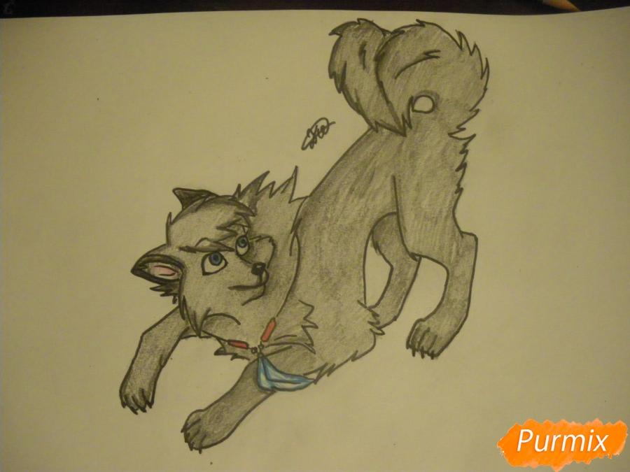 Рисуем серую аниме волчицу - шаг 9