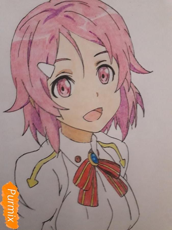 Рисуем Шинозаки Рику(Лизбет) из аниме Мастера меча онлайн карандашами - фото 10