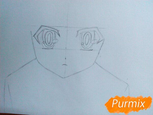 Рисуем Широ из аниме Нет игры нет жизни цветные карандашами - шаг 2