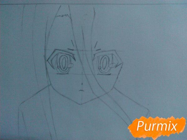 Рисуем Широ из аниме Нет игры нет жизни цветные карандашами - шаг 3