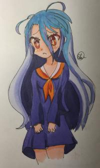Рисунок Широ из аниме Нет игры нет жизни