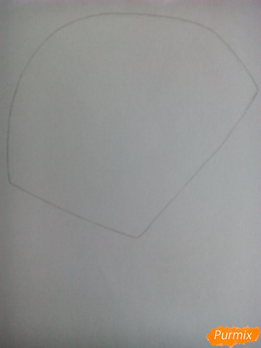 Рисуем Сильвера из аниме Sonic X карандашами - шаг 1