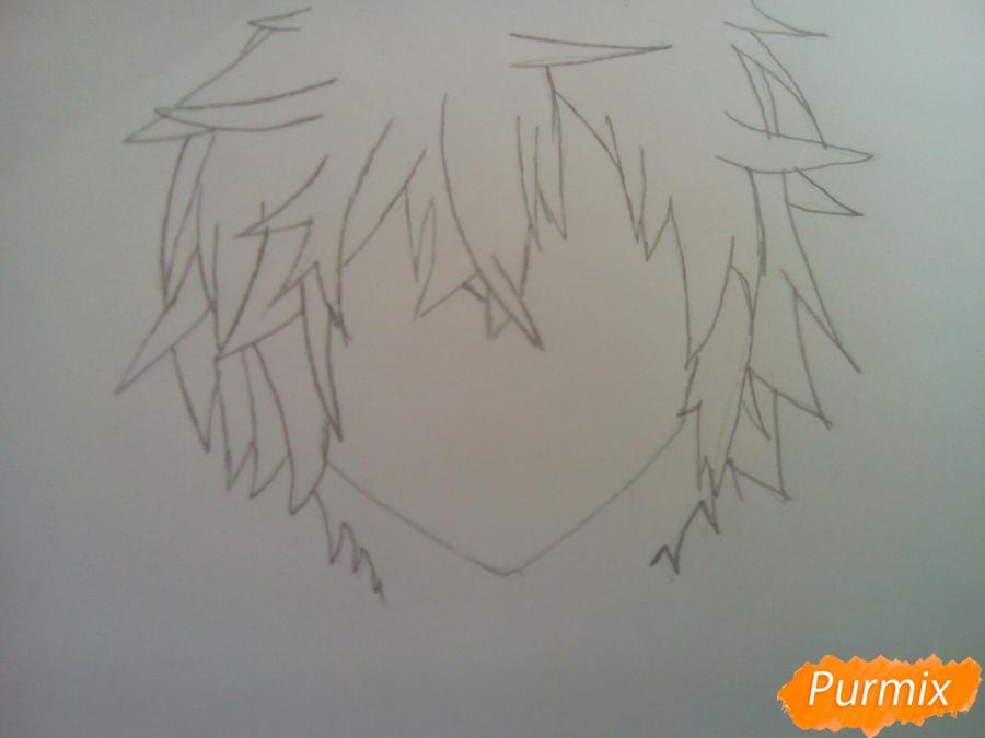 Рисуем Сион из аниме Шестая зона карандашами - шаг 2