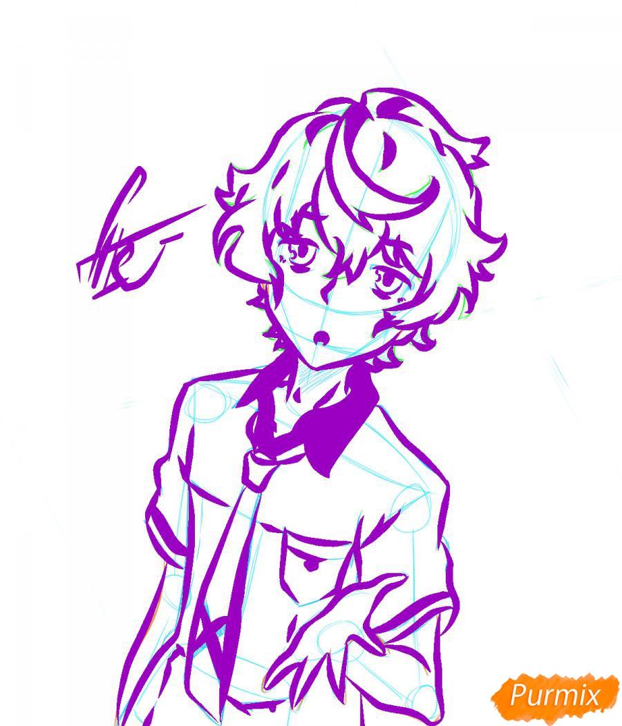 Рисуем собственного аниме парня  для начинающих - шаг 5