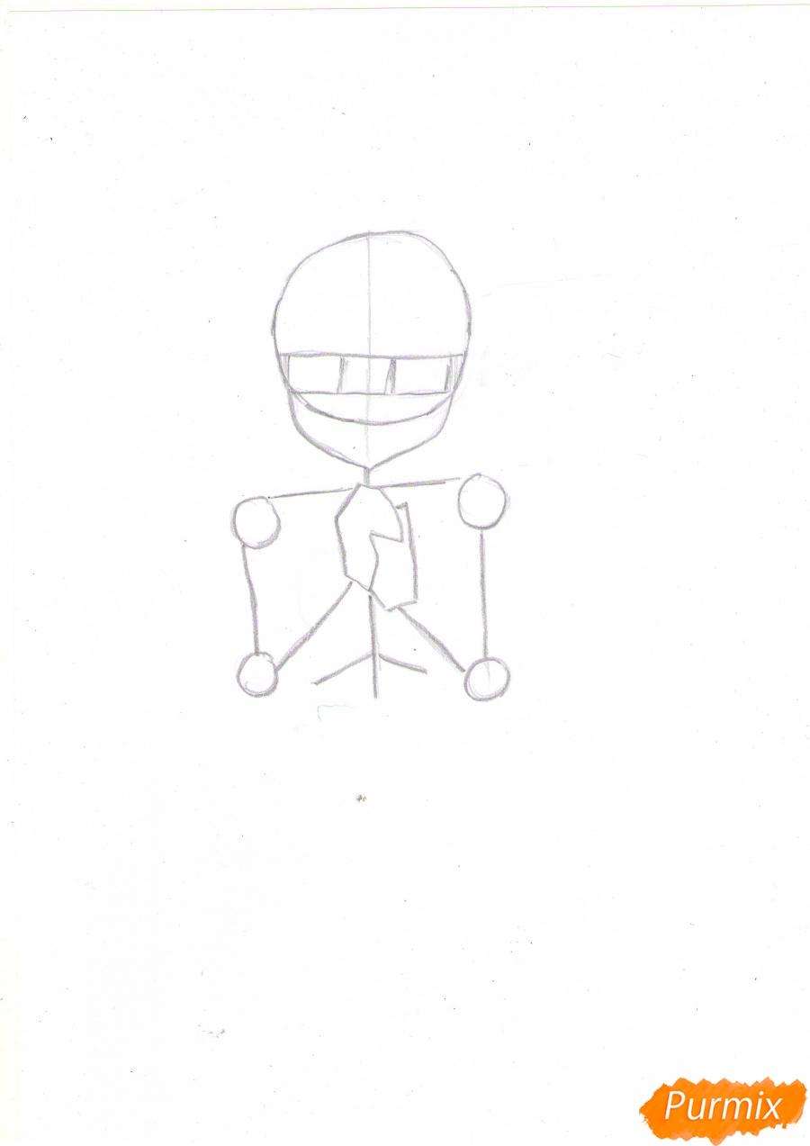 Рисуем собственную аниме девушку Эми карандашами - шаг 2
