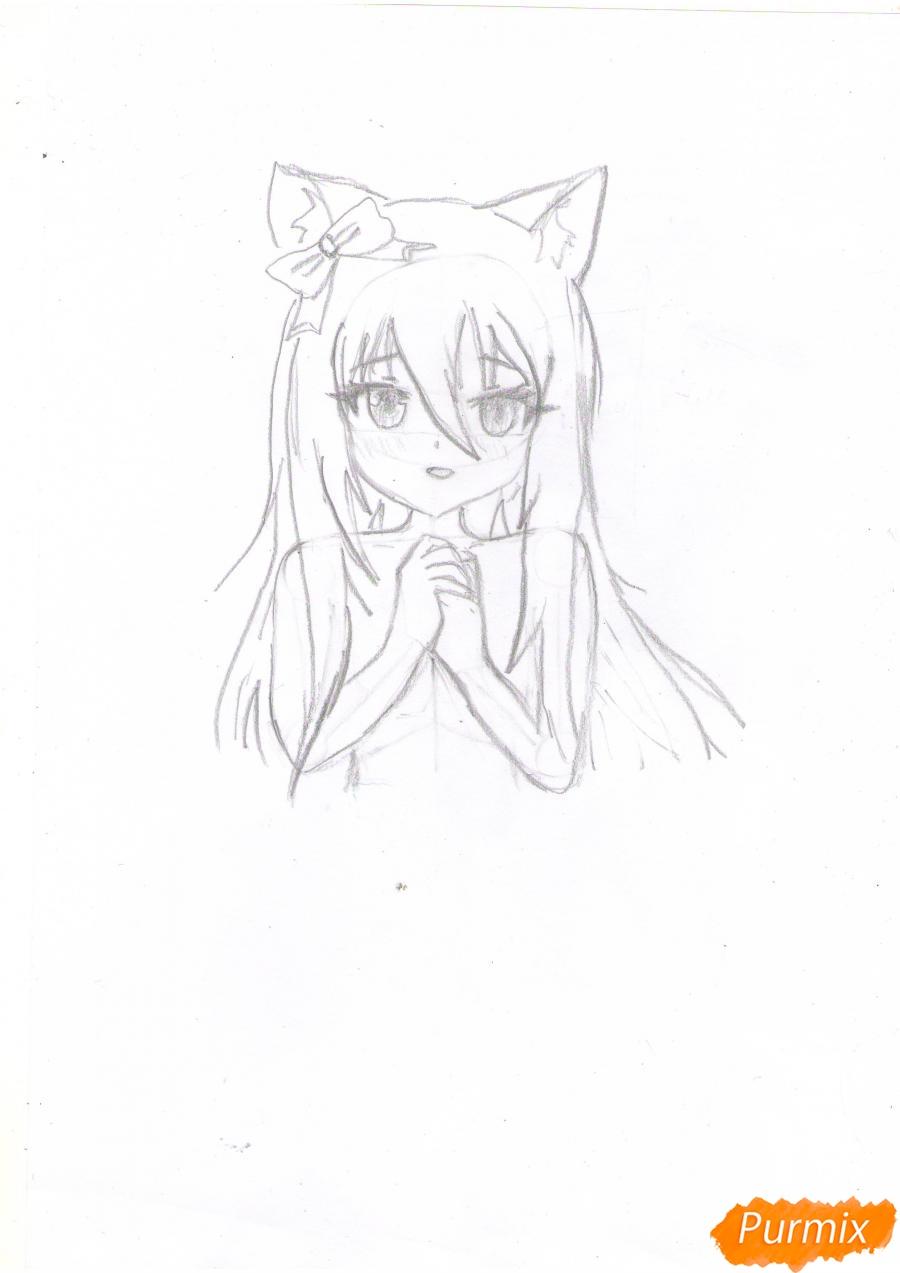 Рисуем собственную аниме девушку Эми карандашами - шаг 4