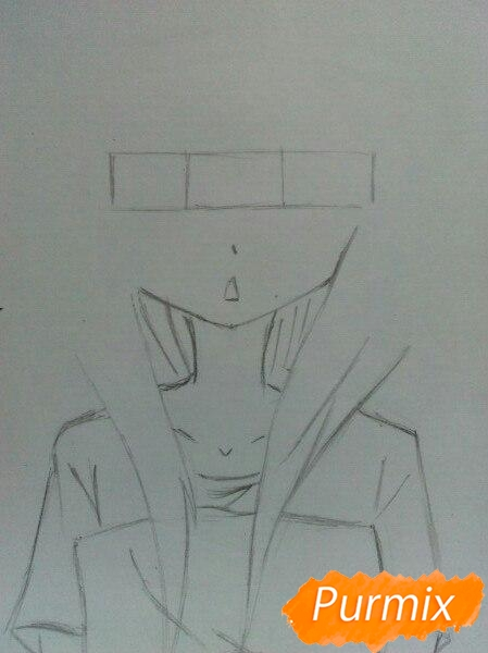 Рисуем сонную аниме девочку цветными карандашами - шаг 3