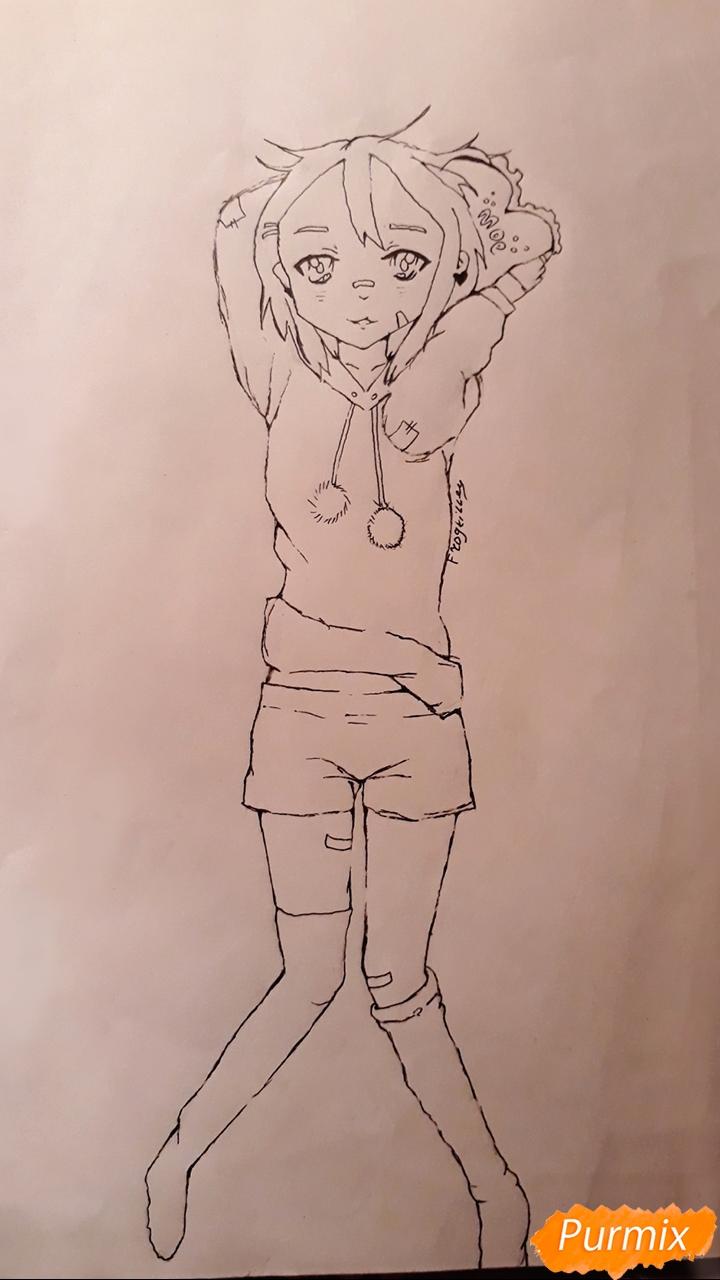 Рисуем стилизированную Юи из аниме K-on - фото 10