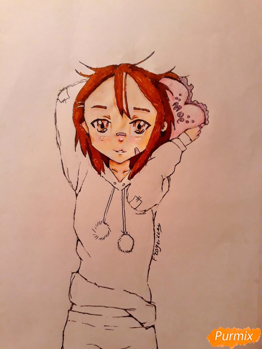 Рисуем стилизированную Юи из аниме K-on - фото 12