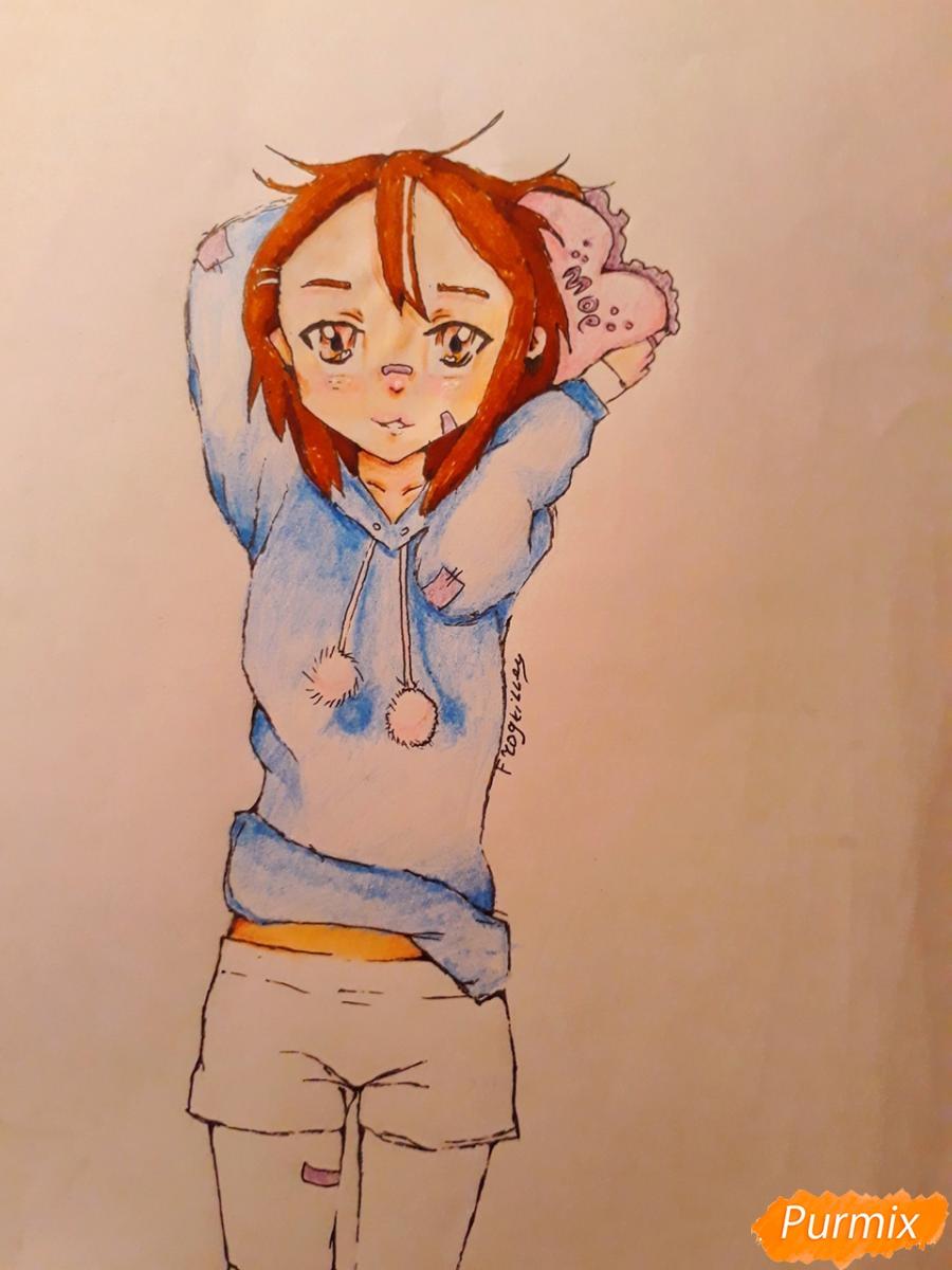 Рисуем стилизированную Юи из аниме K-on - фото 13