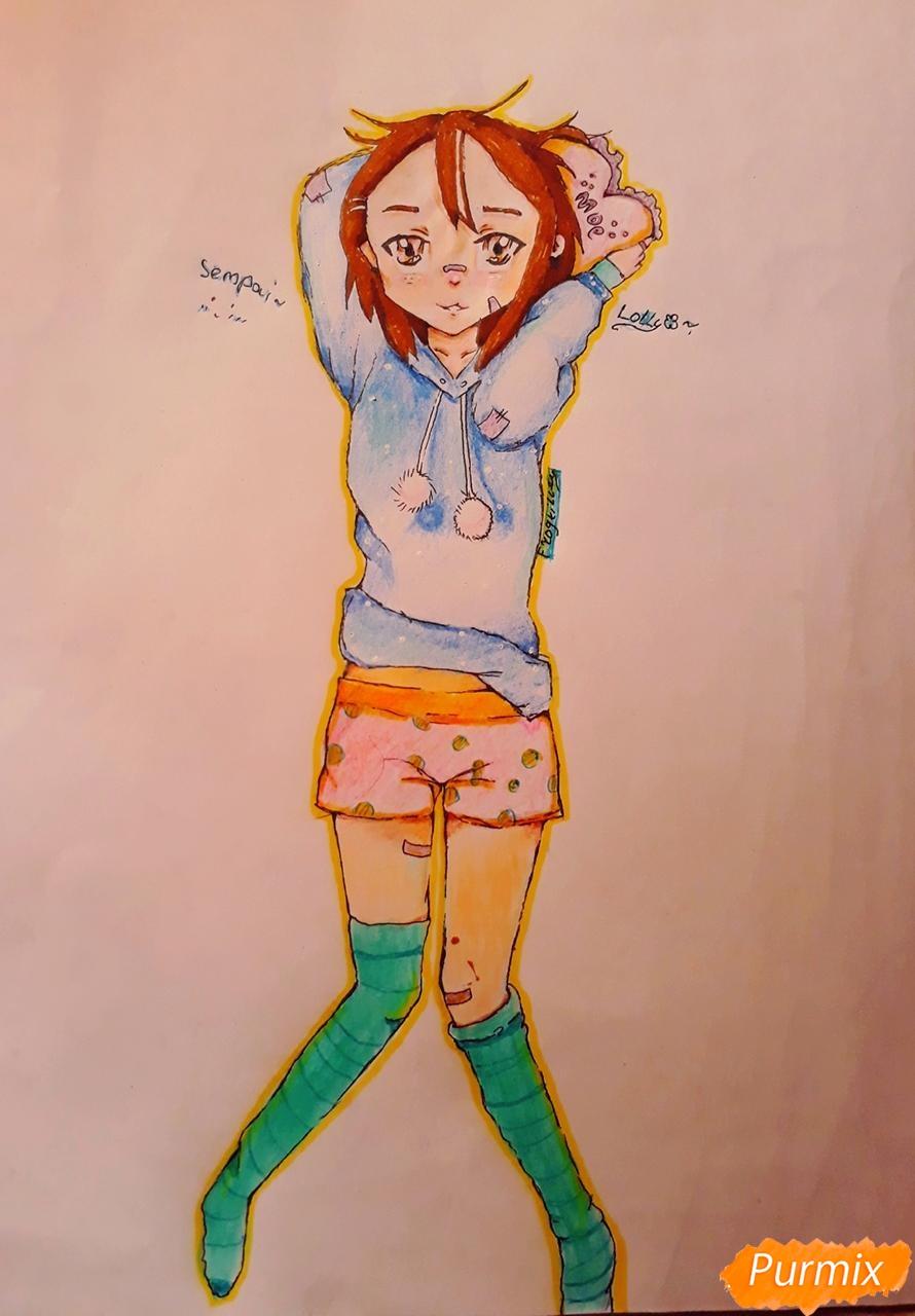 Рисуем стилизированную Юи из аниме K-on - фото 14