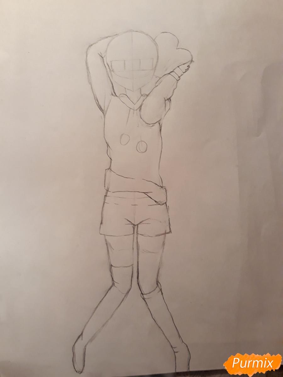 Рисуем стилизированную Юи из аниме K-on - фото 6