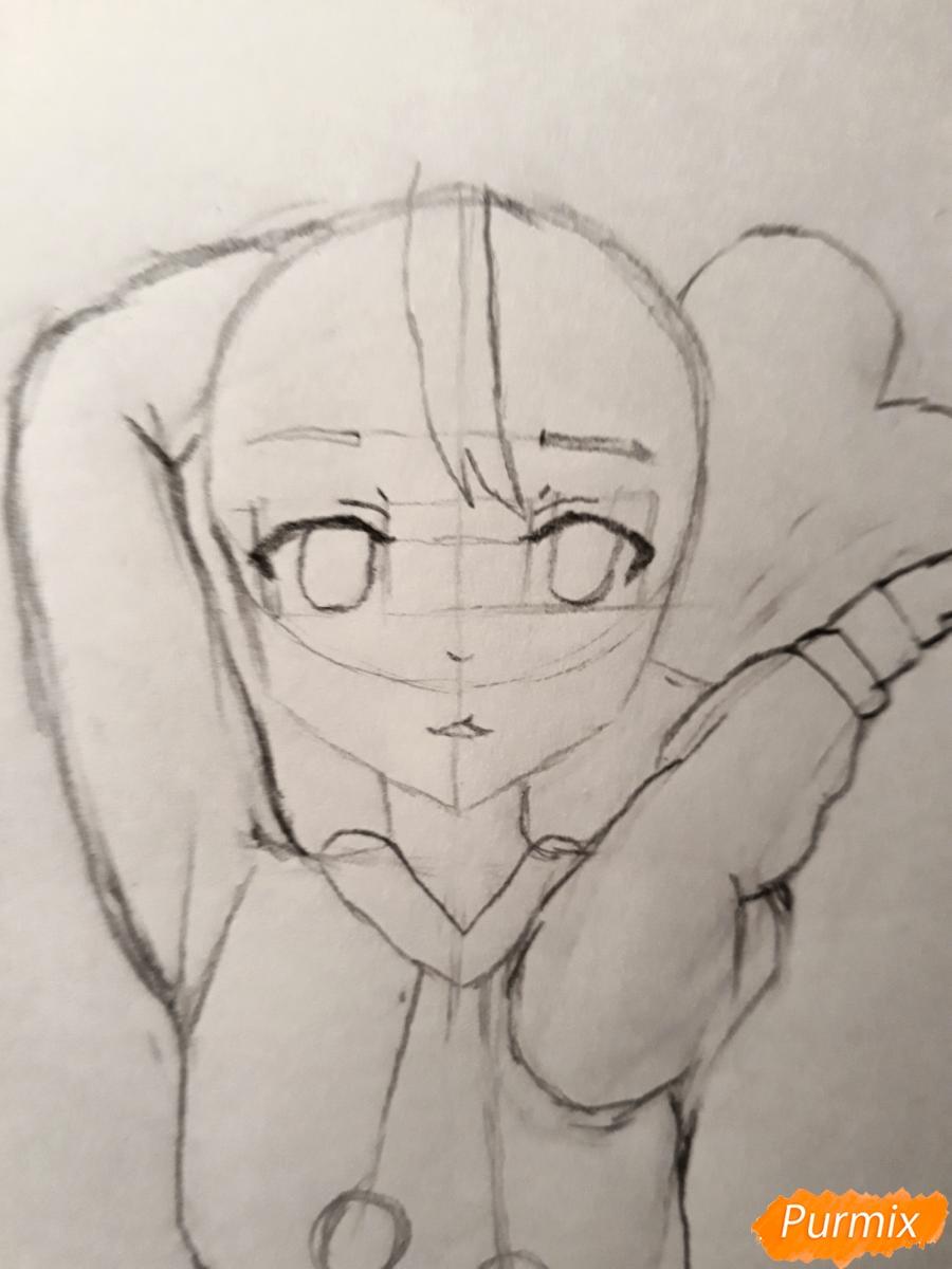 Рисуем стилизированную Юи из аниме K-on - фото 7