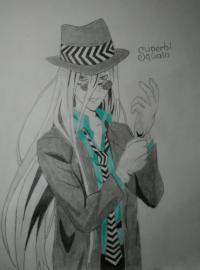 Рисунок Суперби Скуало из аниме Реборн