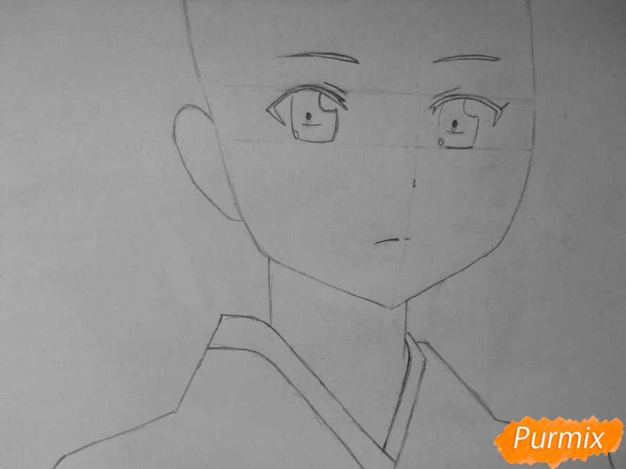 Рисуем Сузуно из аниме «Сатана на подработке» - шаг 2