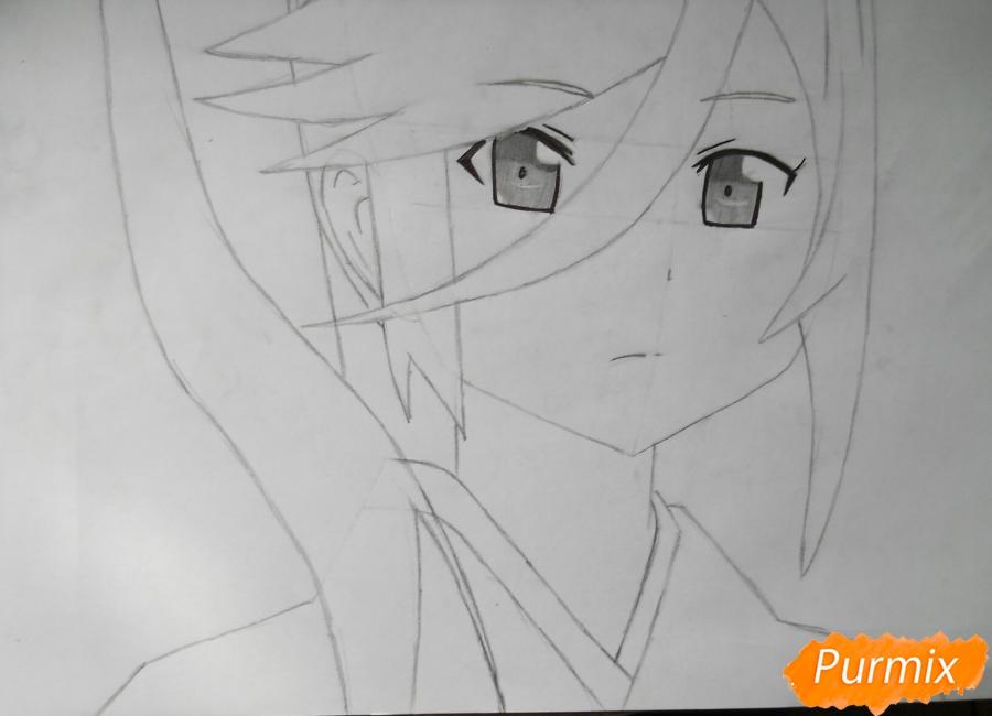 Рисуем Сузуно из аниме «Сатана на подработке» - шаг 4