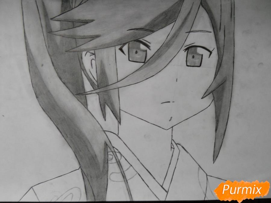 Рисуем Сузуно из аниме «Сатана на подработке» - шаг 6
