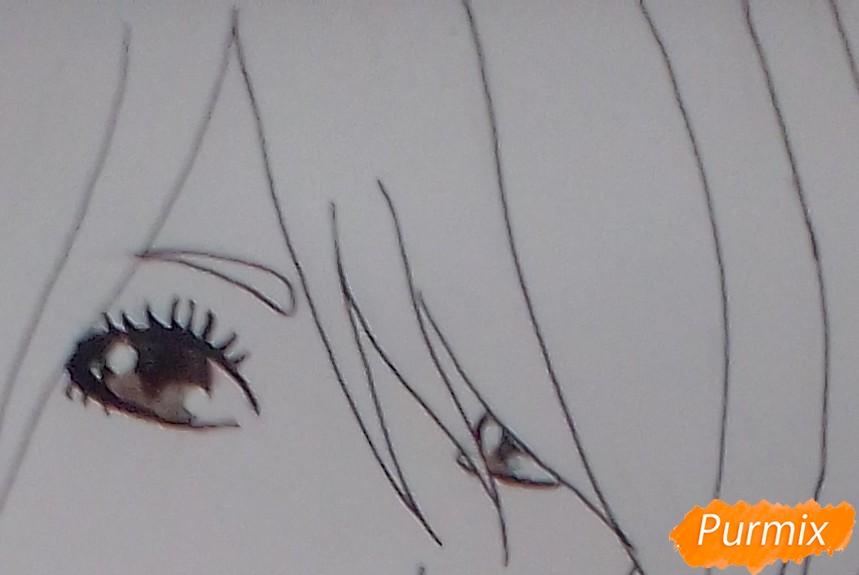 Рисуем Тай Ли из аниме Аватар:Легенда об Аанге. - шаг 7