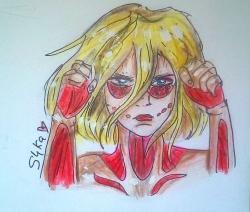 Рисунок титана Женскую Особь из Атака Титанов