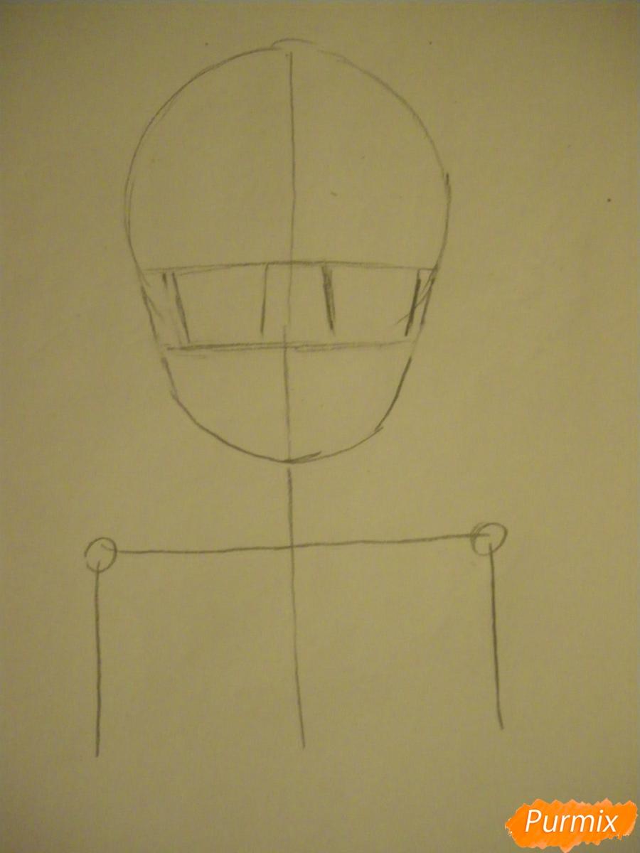Рисуем Тору Кобаяши из аниме Дракон Горничная Кабаяши-сан карандашами - шаг 1