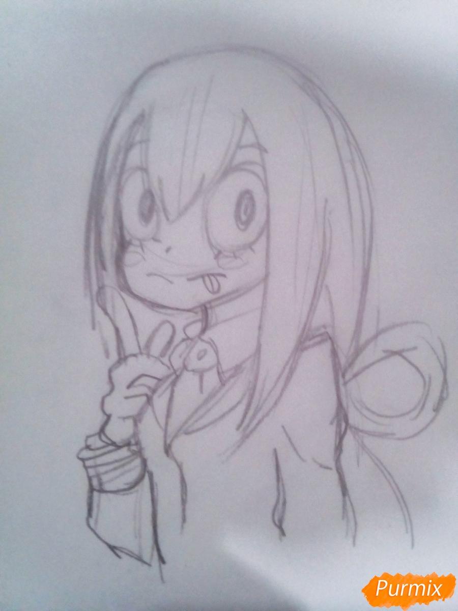 Рисуем Тсую Асуи из аниме Моя Геройская Академия - фото 6