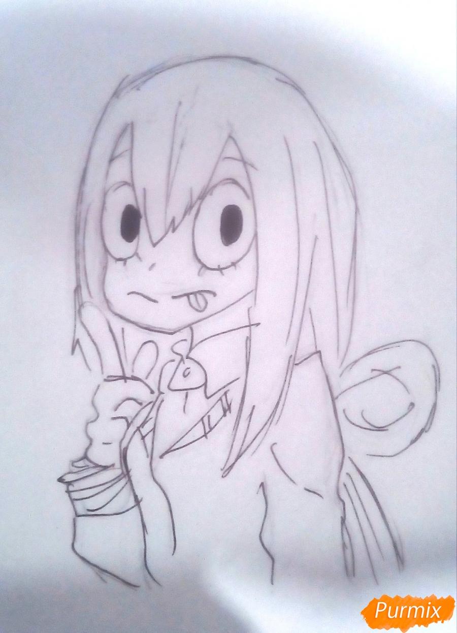 Рисуем Тсую Асуи из аниме Моя Геройская Академия - фото 7