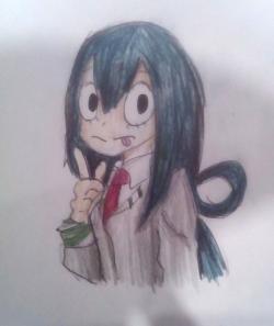 Тсую Асуи из Моя Геройская Академия карандашом