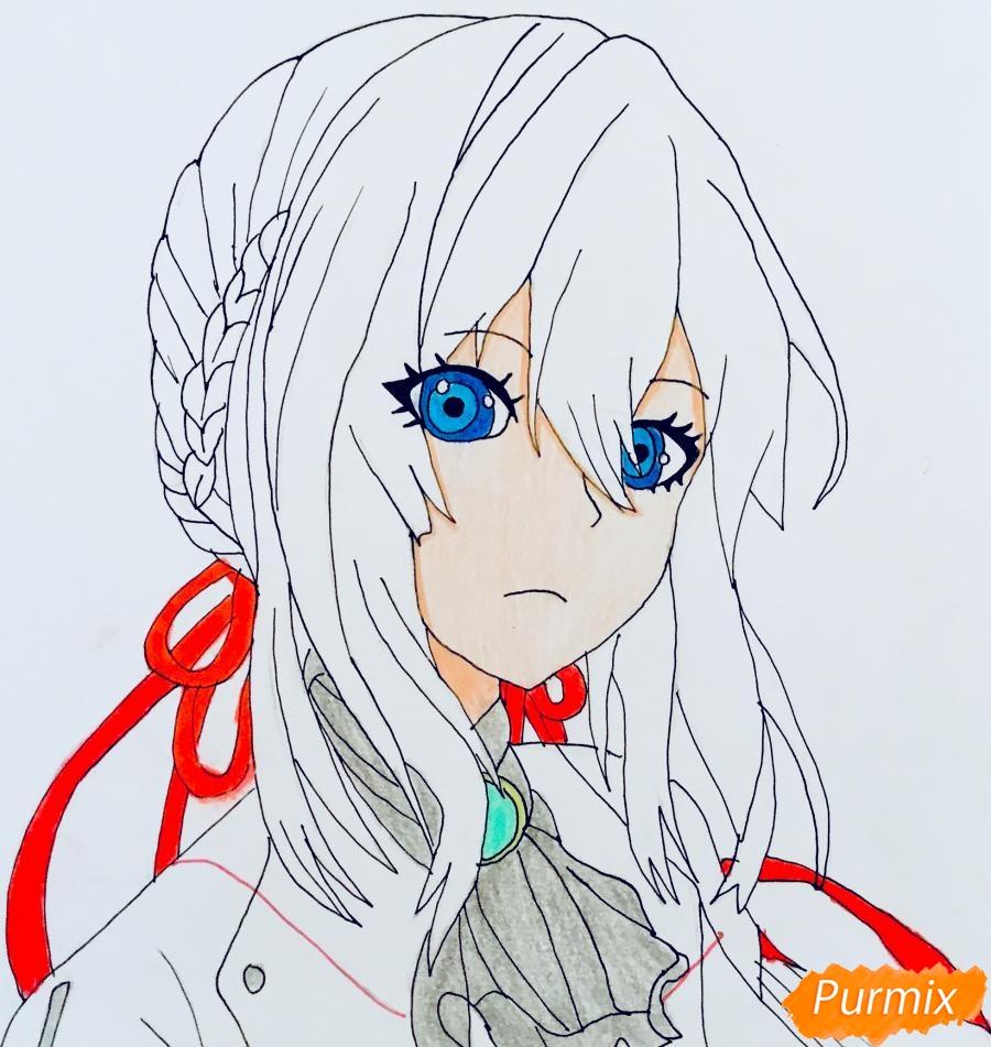 Рисуем портрет Вайолет Эвергарден из аниме Вайолет Эвергарден - шаг 12